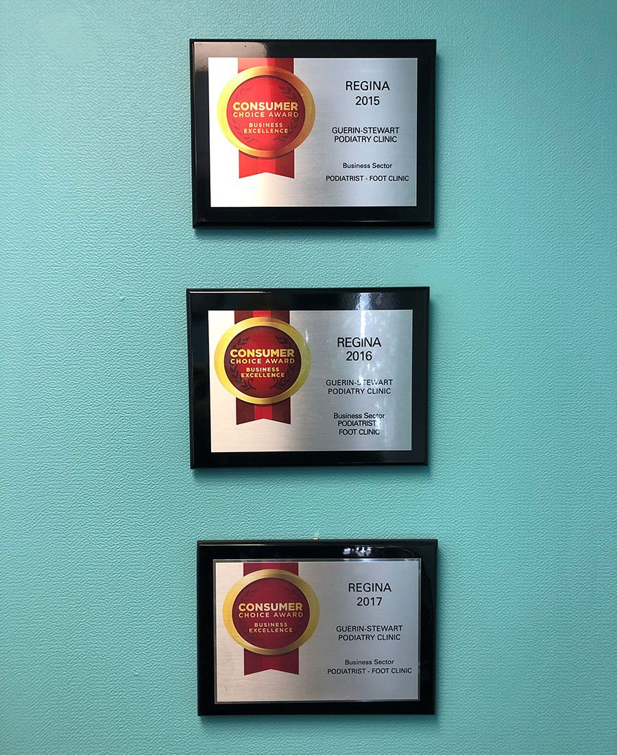 Guerin-Stewart Podiatry Clinic - Awards